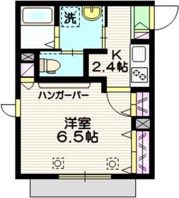 アクア1階Fの間取り画像