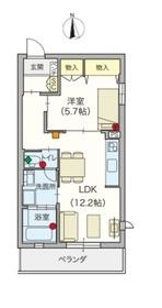 ヘーベルVillage 江古田の森2階Fの間取り画像