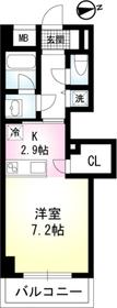 CIEL BLEU(シエルブルー)06階Fの間取り画像