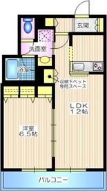 OHANA・MARIA オハナマリア ペット共生1階Fの間取り画像