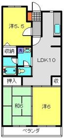 シャルマンU2階Fの間取り画像