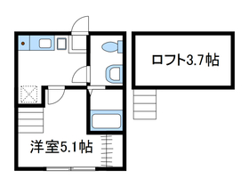 ドミールワタナベ1階Fの間取り画像
