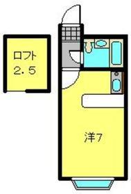 ベルピア弘明寺第12階Fの間取り画像