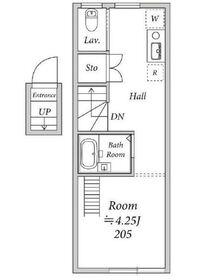 Lenfort鷺ノ宮2階Fの間取り画像