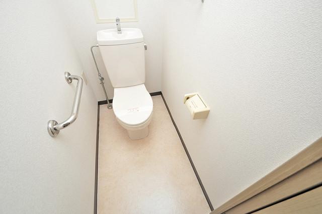 ソレアード三貴 清潔感に溢れたトイレは落ちつける、癒しの空間。