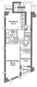 パシフィックレジデンス目黒本町3階Fの間取り画像