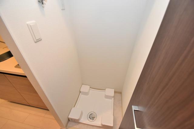 スプランディッド北巽 嬉しい室内洗濯機置場。これで洗濯機も長持ちしますね。