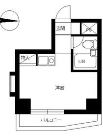 スカイコート西川口第31階Fの間取り画像