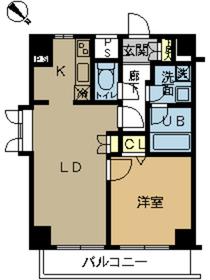 スカイコート富士見台3階Fの間取り画像