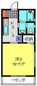ガーデンハイツ上永谷Ⅲ2階Fの間取り画像