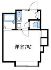 ハイム南台2階Fの間取り画像