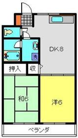 ラポール南太田2階Fの間取り画像