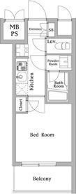ハーモニーレジデンス川崎#0025階Fの間取り画像
