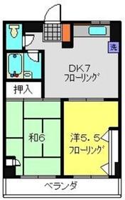 三ッ沢下町駅 徒歩4分5階Fの間取り画像