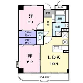 鷺沼駅 徒歩21分3階Fの間取り画像
