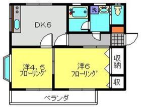 SKハイム2階Fの間取り画像