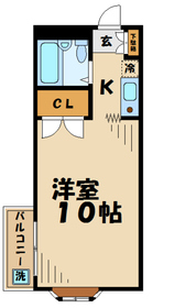 ジュネス鹿島4階Fの間取り画像