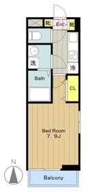 (仮称)矢野口アパート2階Fの間取り画像