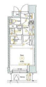 SHOKEN Residence 横浜BAY SIDE2階Fの間取り画像