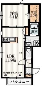 コトー井草1階Fの間取り画像