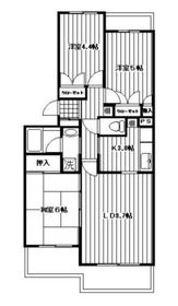 弘明寺駅 徒歩20分3階Fの間取り画像