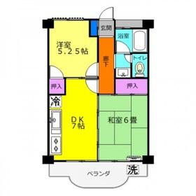 第3三建マンション2階Fの間取り画像