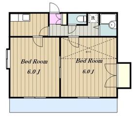 グレースフルハイツ本厚木2階Fの間取り画像