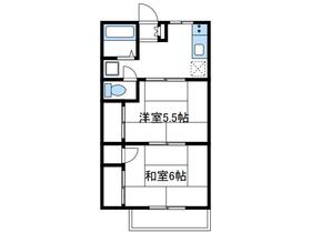 小沢ハイツ1階Fの間取り画像