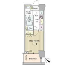 ルミレイス豊洲9階Fの間取り画像