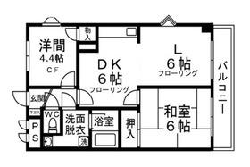 パークサイドレジデンス6階Fの間取り画像