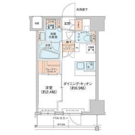 アジールコート新高円寺6階Fの間取り画像