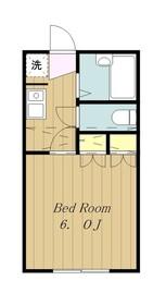 ホワイトマンション1階Fの間取り画像