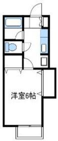 ラベンダーハイム1階Fの間取り画像