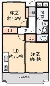 本鵠沼駅 徒歩11分2階Fの間取り画像