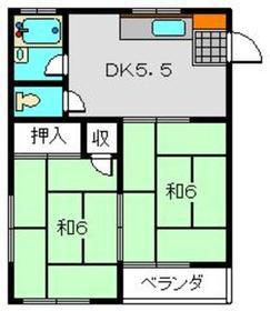 パークハイツ2階Fの間取り画像