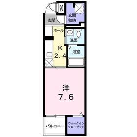 京王多摩センター駅 徒歩26分2階Fの間取り画像
