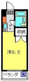 メゾン桜ヶ丘F棟2階Fの間取り画像