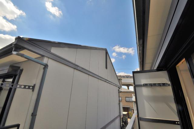 ブリエール布施A棟 バルコニーからの眺めも良いです。