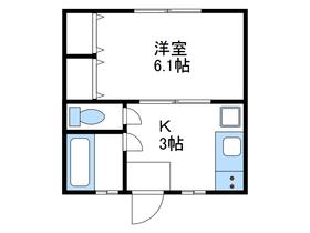 久保ハイツPⅡ1階Fの間取り画像