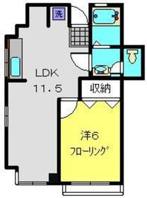 福島ビル5階Fの間取り画像