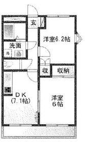 大倉山駅 徒歩5分2階Fの間取り画像