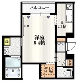 Mervelle oku-ekimae3階Fの間取り画像
