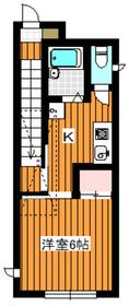 パーク菱和Ⅱ2階Fの間取り画像