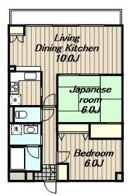 愛甲石田駅 車8分2.7キロ5階Fの間取り画像