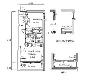 ルフォンプログレ南麻布5階Fの間取り画像
