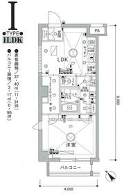 スカイコート茗荷谷壱番館4階Fの間取り画像