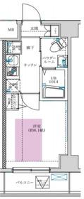 フェルクルールプレスト川崎アリビエ5階Fの間取り画像