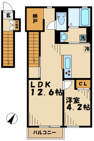 デュラカーサ根光22階Fの間取り画像