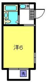 コーポ中川B棟2階Fの間取り画像