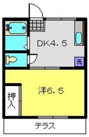 小泉ハイム1階Fの間取り画像